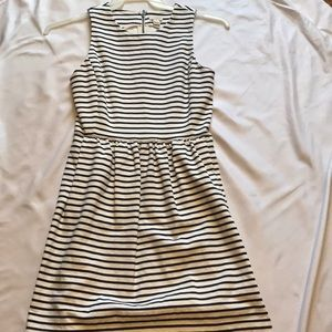 Stripped j crew midi dress